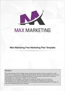 Marketing Plan - FREE - Max Marketing