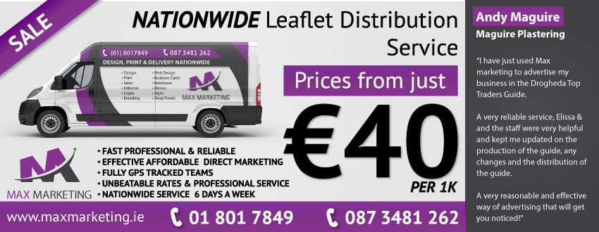 Cheap Leaflet Distribution - Max Marketing Print & Design ltd