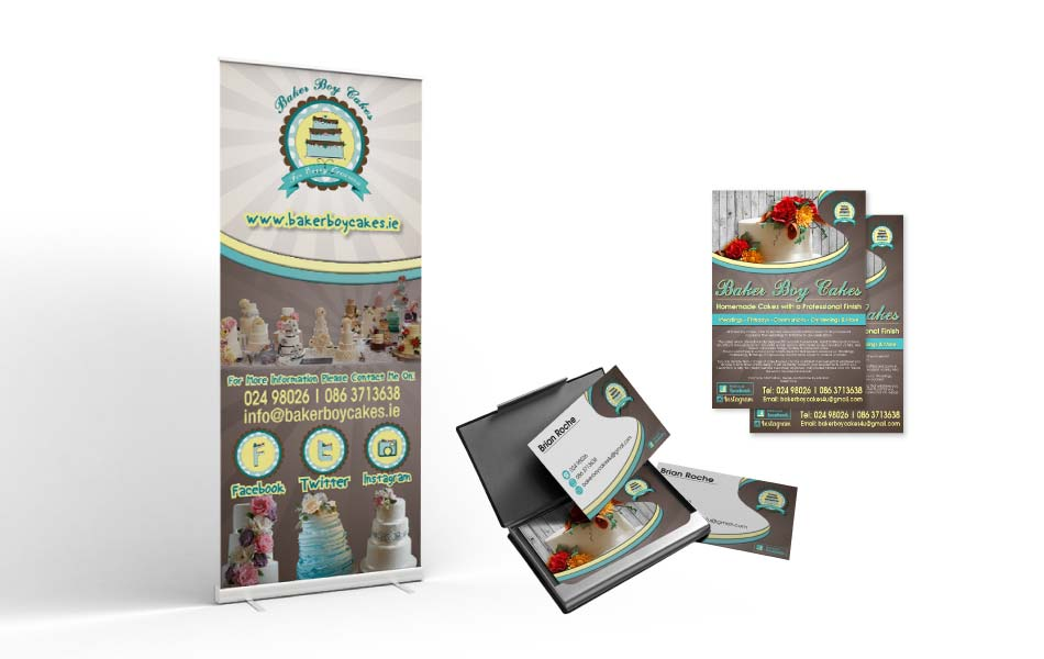 Max Marketing | Web Design & marketing Ireland - Baker Boy Cakes Print Design